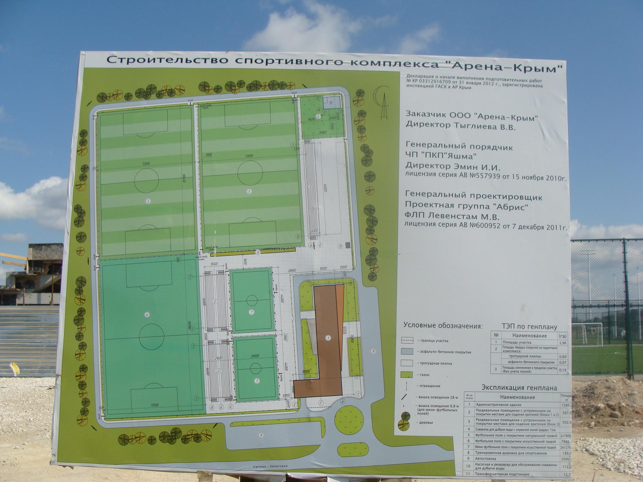 Возле Евпатории  строят     «Арену-Крым»