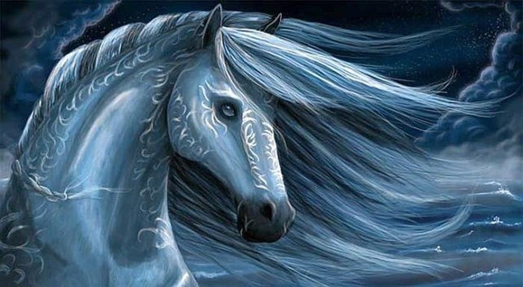 К нам мчится год  Синей лошади