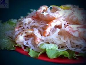 салат из медузы с креветками