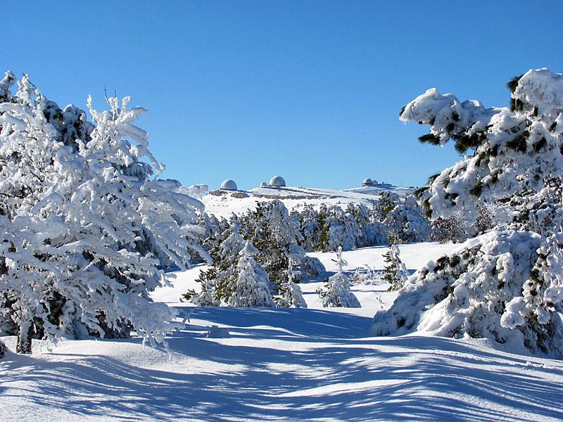 Ай-Петри замело снегом