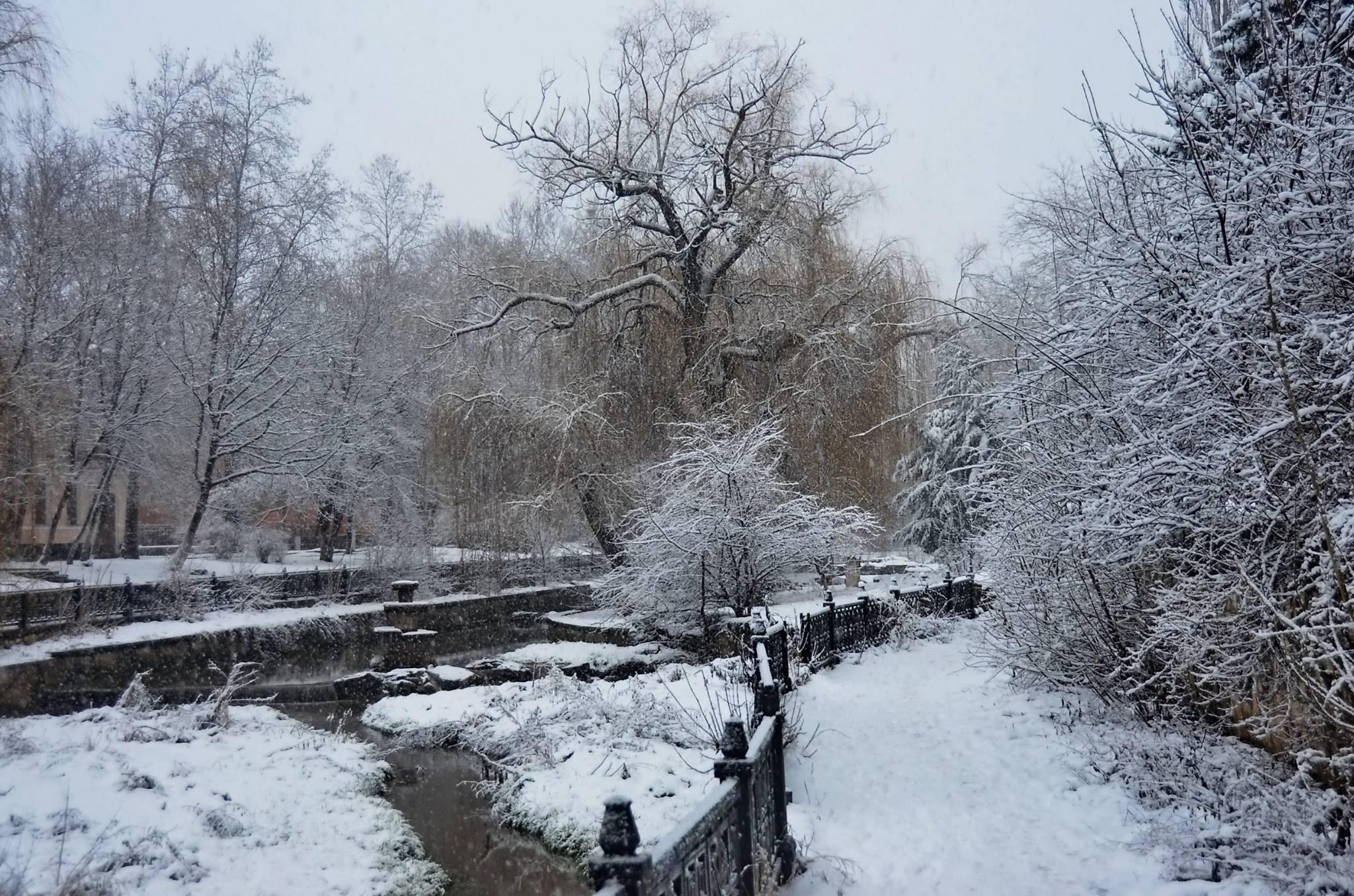 В Крым  снова пришла зима!