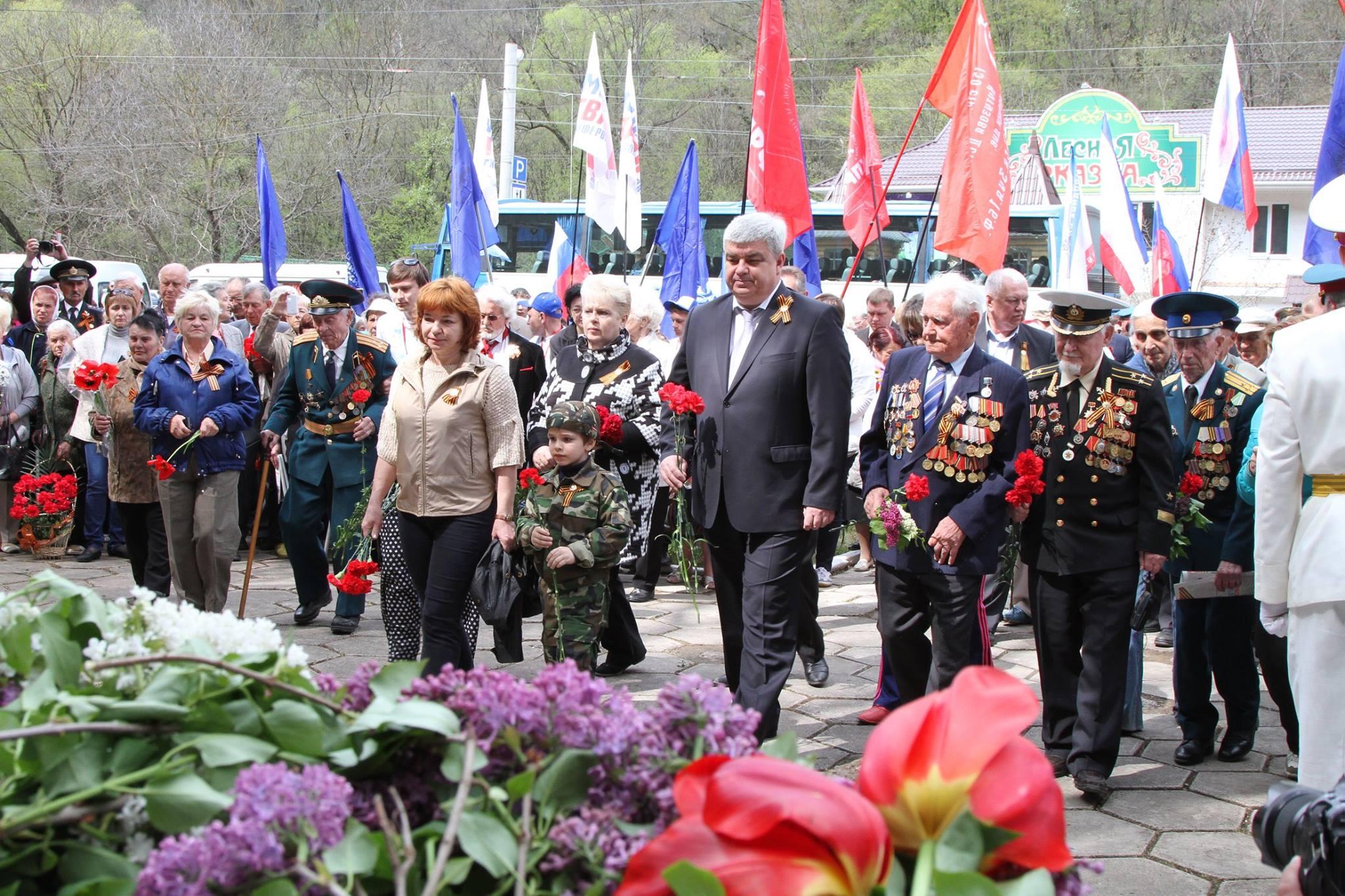 В Крыму для ветеранов устроили маевку