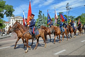 парад казаков