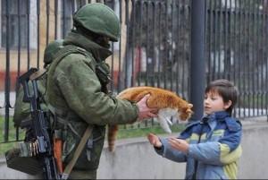 вежливые люди и кот