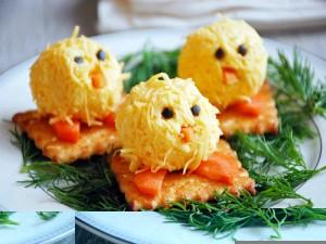 сырные цыплята