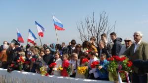 открытие памятного знака Николаю Токареву, Евпатория