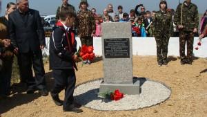 открытие памятного знака на месте гибели Николая Токарева