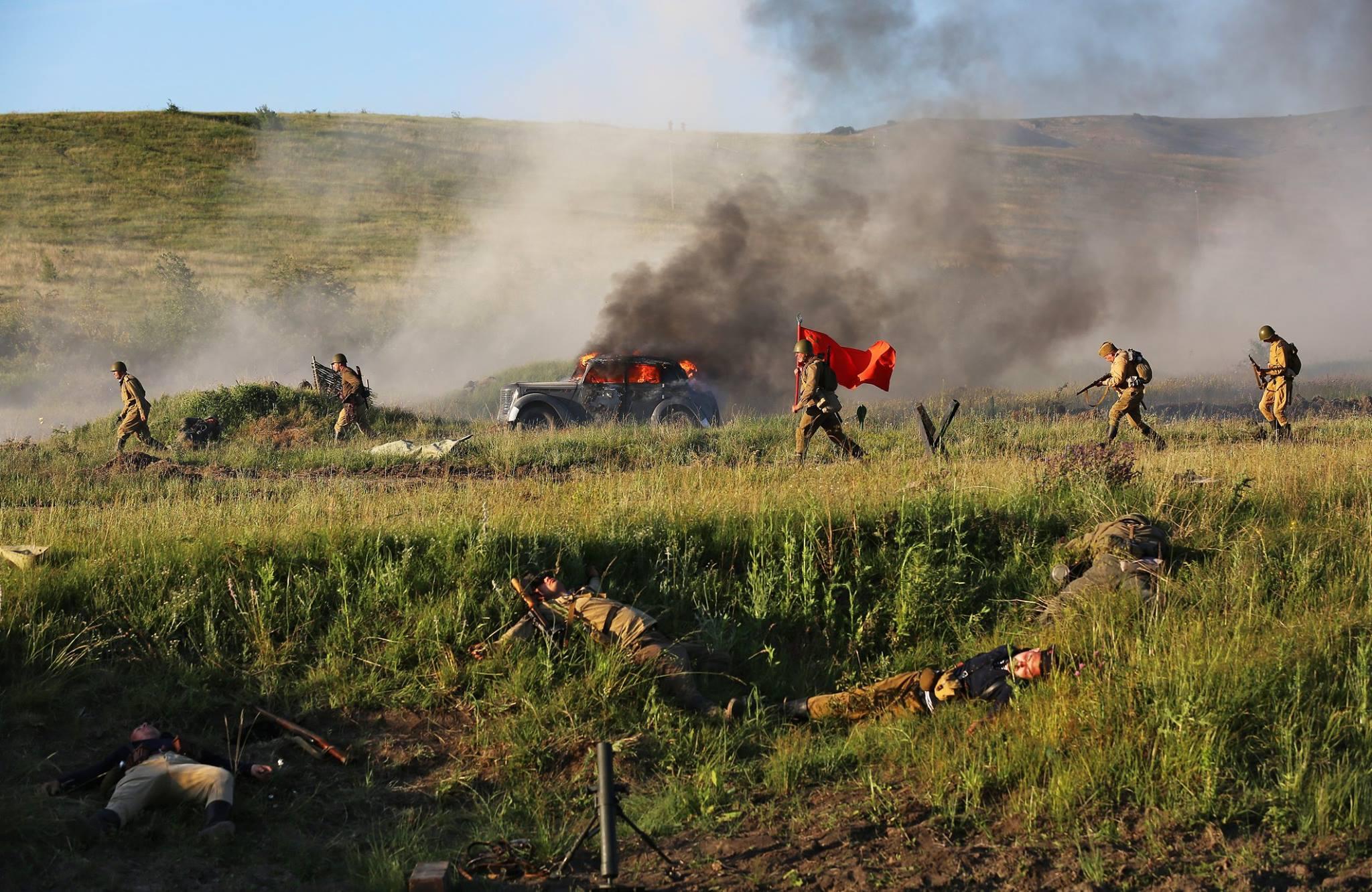 В Крыму показали реконструкцию боя за освобождение полуострова