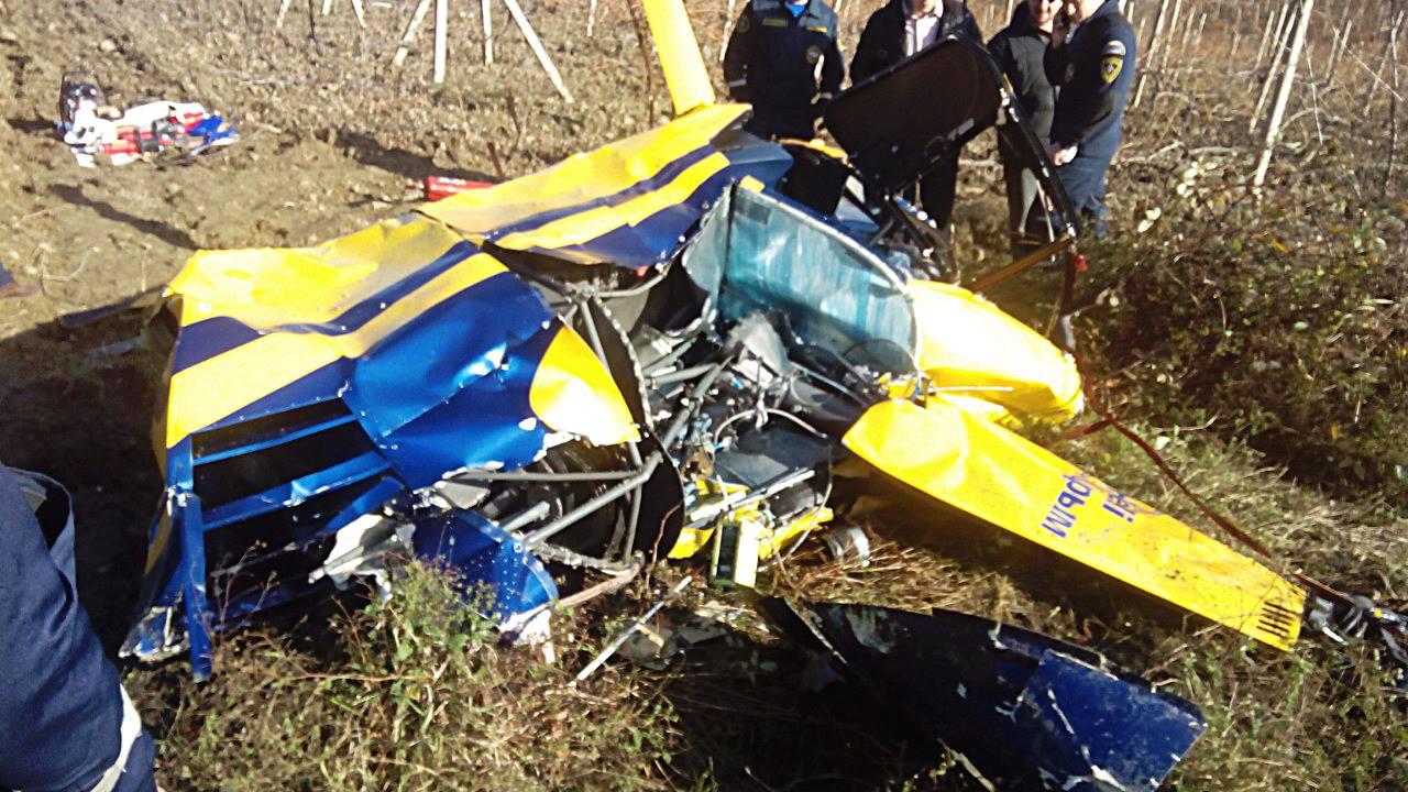 Возле Алушты разбился частный вертолет