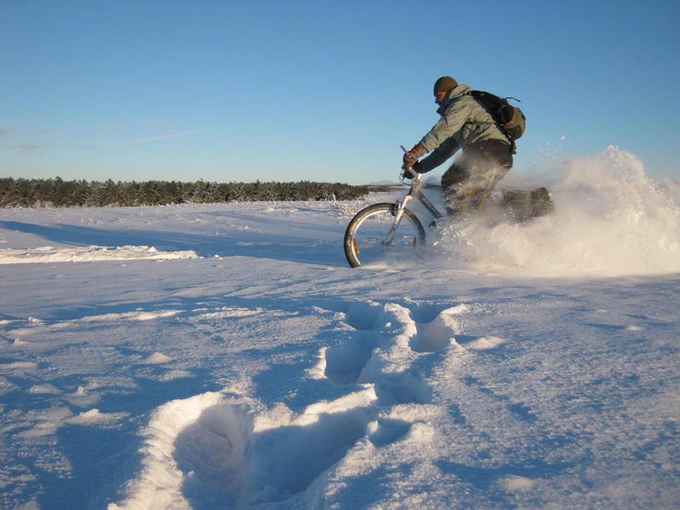 Крымские викинги покорили заснеженное плато на велосипедах