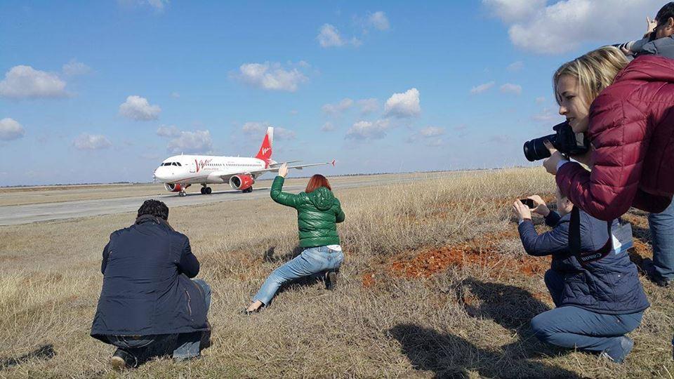 В аэропорту «Симферополь» впервые состоялся тестовый споттинг