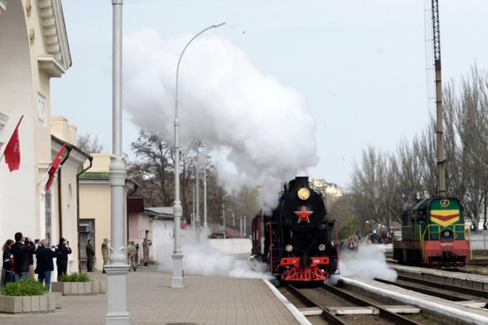 В Феодосию прибыл Поезд Победы