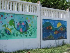 конкурс рисунков на заборе5