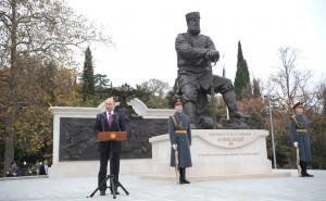 Владимир Путина на открытии памятника