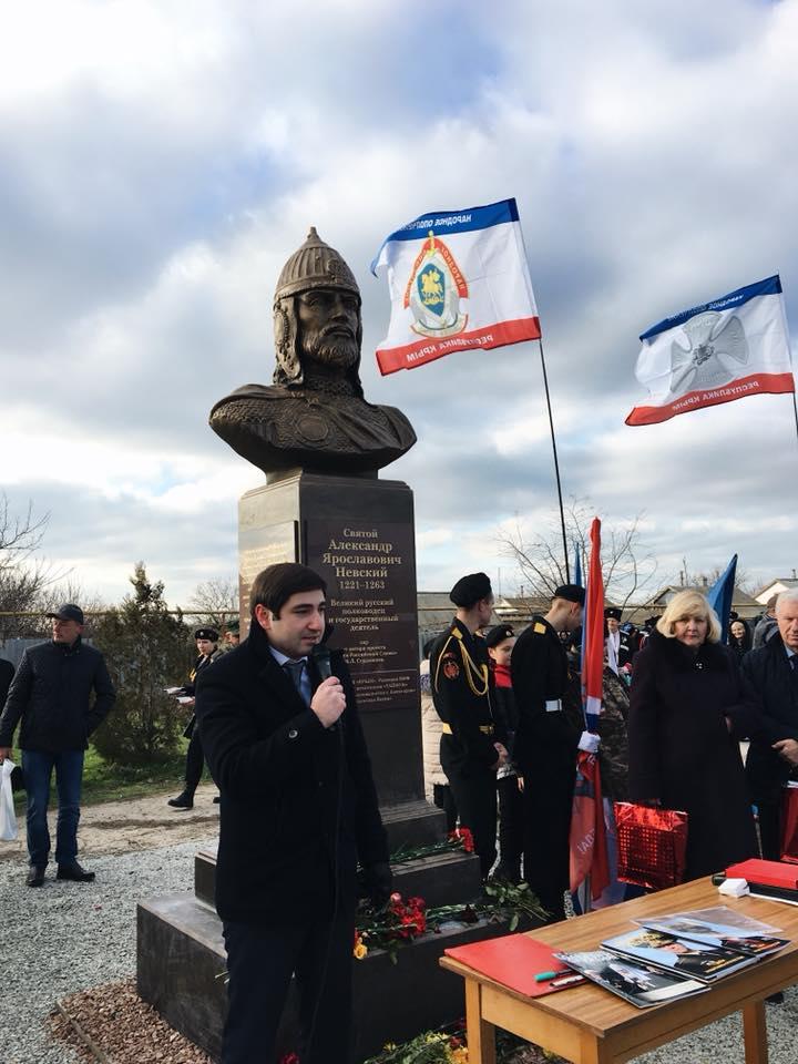 В Раздольненском районе установлен памятник Александру Невскому