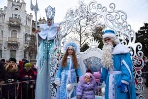 Евпатория, новогодняя елка, Снегурочка