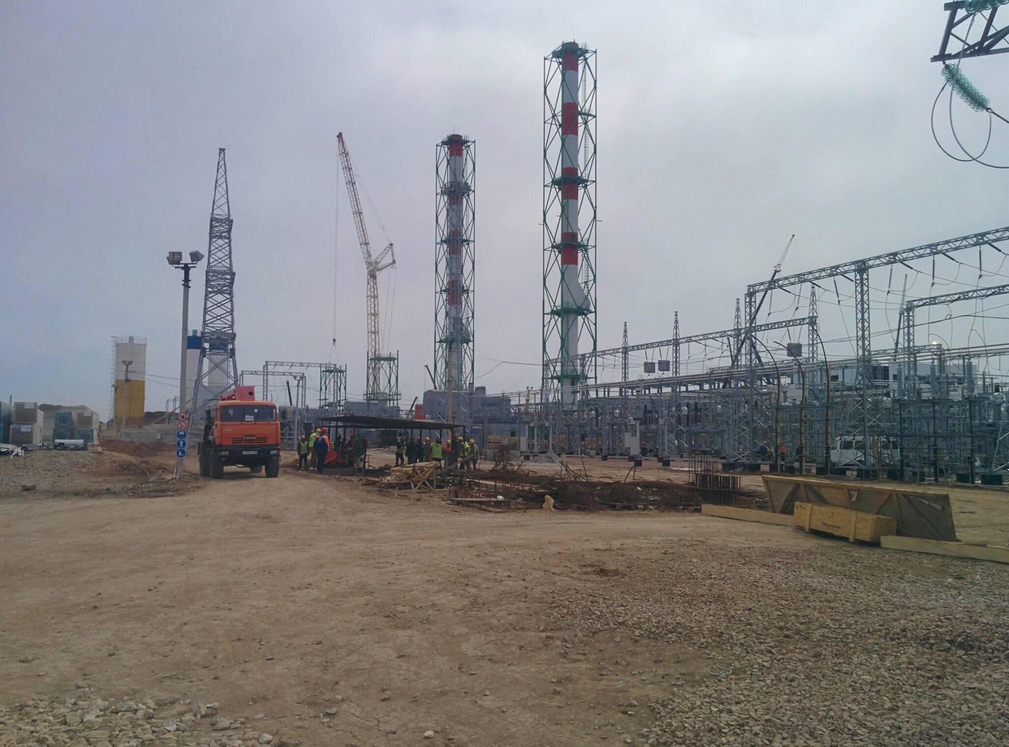 Строительство ТЭС в Саках практически завершено