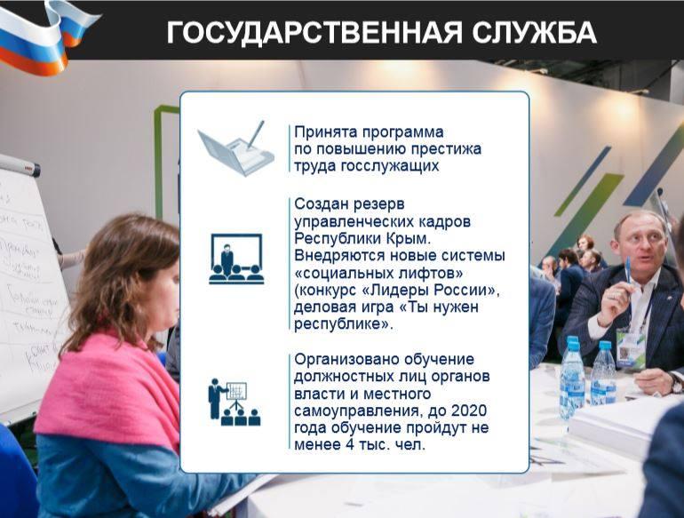 В Крыму создан резерв управленческих кадров