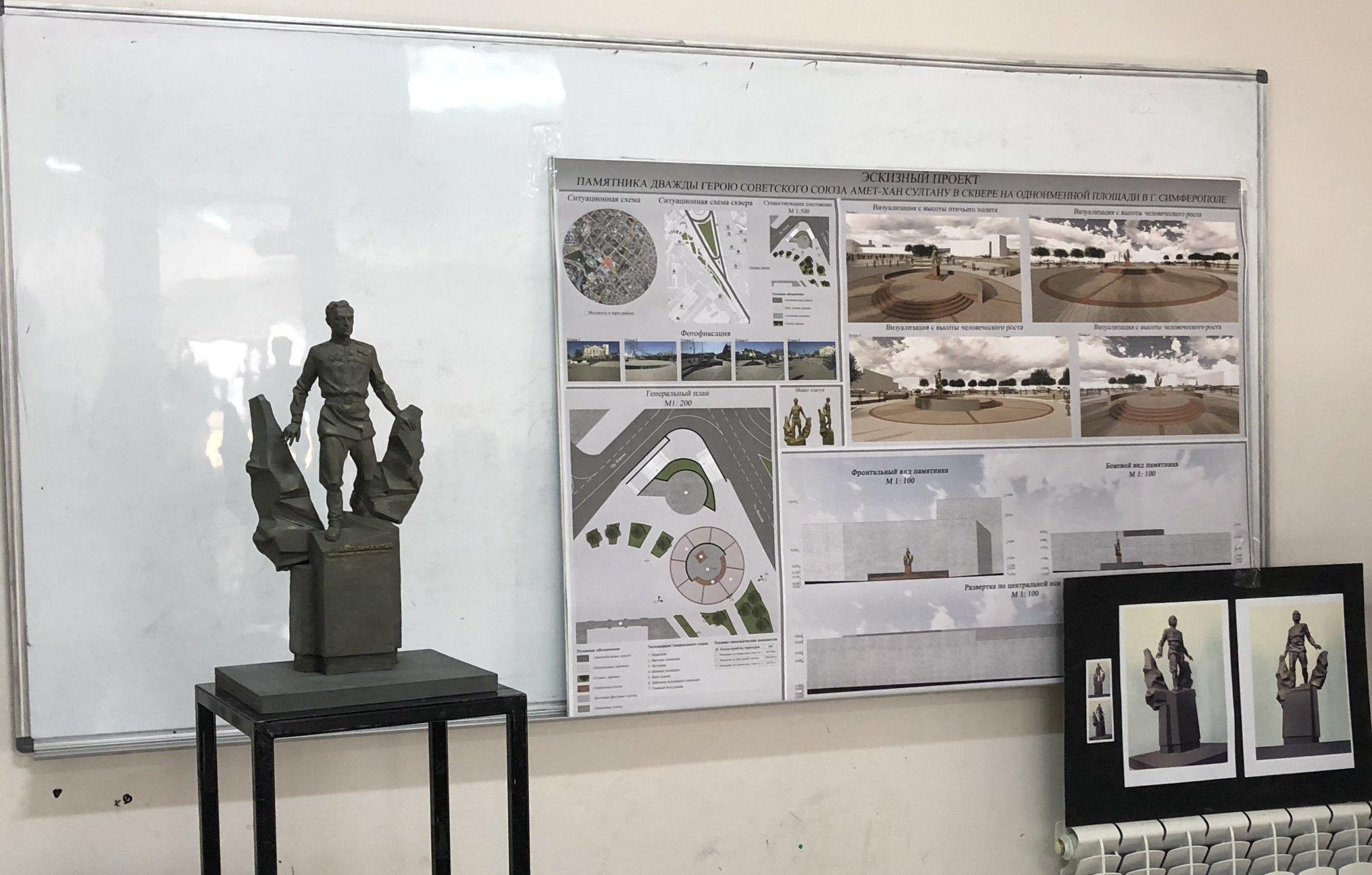 В Крыму утвердили проект памятника Амет-Хану Султану