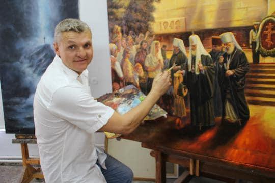Старший мичман Черноморского флота стал Заслуженным художником России